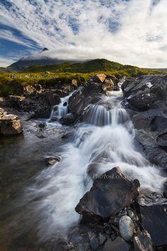 Sgurr nan Gillean in the mist. Sligachan. Isle of Skye. Scotland.