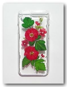 Handmade iphone 6 case, Resin with Real Flowers, Pressed flower(106)