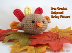 Free Crochet Amigurumi Turkey Pattern. This sweet little free crochet turkey pattern will make a great Thanksgiving decoration!