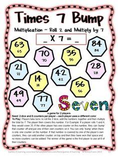 math worksheet : freebies division bump games 2 printable math bump games for  : Multiplication Worksheet Games