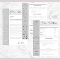 Professional Resume + Cover Letter Template Editable for MS Word - Curriculum Vitae - English CV with Fonts included - Resume Cover Letter Template, Cv Template, Letter Templates, Resume Templates, Professional Resume, Lettering, Words, Etsy, Resume Maker Professional