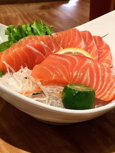 Kenji Tei Ramen House's Salmon (鮭 Sake) Sashimi
