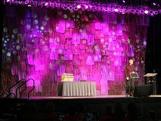 Patchwork Stage Backdrop Interesting Texture Church DesignStage SetChoirEvent
