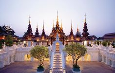 Thailand's Mandarin Oriental Dhara Dhevi, Chiang Mai. Modeling itself on the historic Lanna Kingdom, which saw the city of Chiang Mai become a mecca for arts, culture, and architecture in the Chiang Mai Thailand, Laos, Best Resorts, Hotels And Resorts, Luxury Hotels, Luxury Travel, Wonderful Places, Beautiful Places, Beautiful Pools