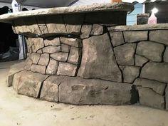 Concrete Sculpture, Concrete Art, Concrete Projects, Concrete Design, Artificial Rocks, Wall Design, House Design, Fake Rock, Concrete Interiors