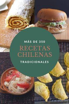 Más de 350 recetas chilenas tradicionales. Comida casera de Chile. Siempre estamos agregando más. Chilean Recipes, Chilean Food, Slow Cooker Recipes, Cooking Recipes, Slow Cooking, Salty Foods, Tasty, Yummy Food, English Food
