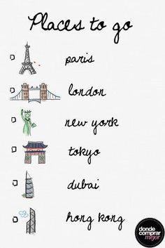 Para evitar pensar en el finde que se termina, volamos a diferentes ciudades con la imaginación. ¿Qué lugar te gustaría visitar?