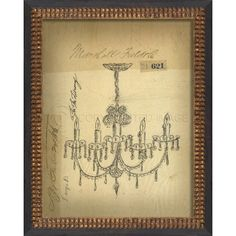 """Beautiful sketch of a Victorian chandelier. There are two images in this series. Just click """"Spicher and Company Australia"""" to shop the collection. """"Copyright"""" watermark will not be on purchased artwork"""