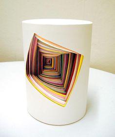 Jen Stark's Construction Paper Sculpture