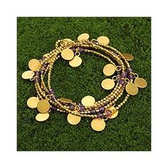 Shop for Gold Overlay 'Golden Suns' Amethyst Wrap Bracelet (Thailand). Get free shipping at Overstock.com - Your Online World Jewelry Outlet Store! Get 5% in rewards with Club O!