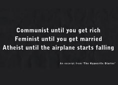 The Hypocrite Diaries.