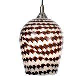 Checkolite 25313-71 Home Design Art Glass, 1-Light Pendant, Brushed Nickel (Tools & Home Improvement)By Checkolite