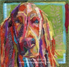 Beautiful collage art - dog