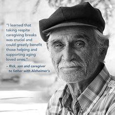 """""""I learned that taking respite caregiving breaks was crucial and could greatly benefit those helping and supporting aging loved ones. During those respite breaks, I walked, wrote, and spent time in local coffee shops simply reading the daily newspaper - taking time for me proved to be very effective."""" - Rick Lauber, Author of The Successful Caregiver's Guide, son and caregiver of father with Alzheimer's"""