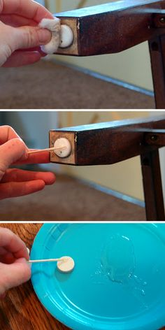 Take the Side Street: {Quick Tip} Keeping Felt Pads Adhered to Furniture Legs
