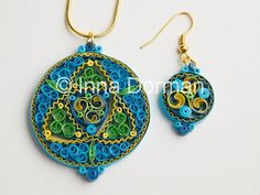 Celtic quilling/paper filigree jewelry by InaQuillingOrchard