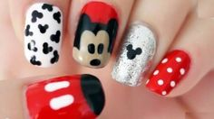 Use a toothpick to make pretty nail art designs! Toothpick can be used as a dotting tool in nail art to create tons of cool nail art designs. Ongles Mickey Mouse, Minnie Mouse Nail Art, Mickey Mouse Nails, Simple Disney Nails, Nail Art Designs, Nails Design, So Nails, Nail Art For Kids, Super Cute Nails