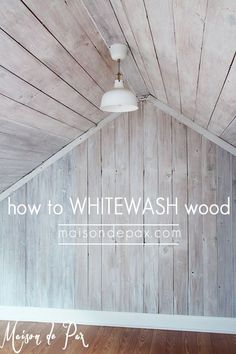 Wood Profits - how to whitewash wood: tutorial and tips for whitewashing wood and giving a farmhouse plank look - Discover How You Can Start A Woodworking Business From Home Easily in 7 Days With NO Capital Needed! Woodworking Shows, Woodworking Projects, Teds Woodworking, Woodworking Techniques, Mur Diy, Diy Wand, Plank Walls, Wood Bathroom, Bathroom Canvas