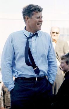 """""""JFK in Rhode Island, September 1962."""""""