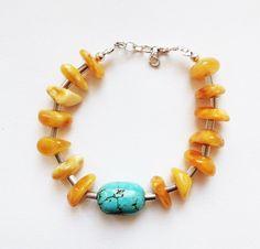 Natural Baltic Amber Bracelet15.8g.