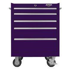 The Original Pink Box – Purple 26-Inch 5 Drawer Cabinet