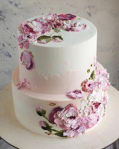Cupcakes, Cupcake Cakes, Amazing Wedding Cakes, Amazing Cakes, Pretty Cakes, Beautiful Cakes, Painted Cakes, Dessert Decoration, Cake Icing