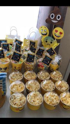 Emoji giveaways and emoji popcorn