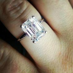 3.50 ct emerald cut solitaire engagement ring. Classic, elegant, gorgeous!