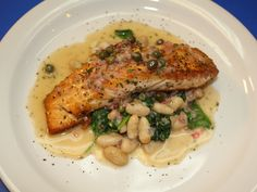 Salmon Piccata recipe from Robert Irvine via Food Network