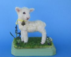 Original Cute Needle Felted Meadow Easter Lamb by Artist Robin Joy Andreae   #AllOccasion