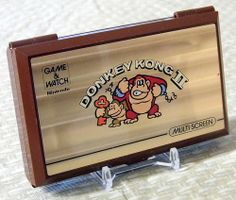 Vintage Nintendo Donkey Kong II Game & Watch, Handheld Electronic Game, Model No. JR-55, Made in Japan Copyright 1983.