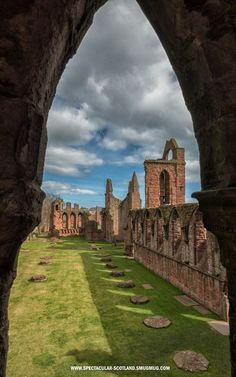 Arbroath Abbey. Scotland. Founded in 1178 (Norman) with Gothic additions
