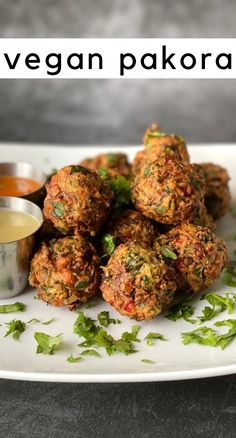 These vegan pakora are what I like to call Indian hush puppies. Packed with veggies and spices, they are delicious! This is perfect as a side dish to an Indian dinner, or just eat as a meal like I did. On all WW plans, each ball is 1 point, or four balls for 3 points. If you count macros the nutrition label is in the printable recipe. #indianfood #vegan #pakora