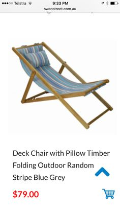 Deck Chairs, Outdoor Chairs, Outdoor Furniture, Outdoor Decor, Folding Chair, Blue Stripes, Blue Grey, Pillows, Home Decor