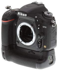 Nikon D750 review -- left view with optional battery grip