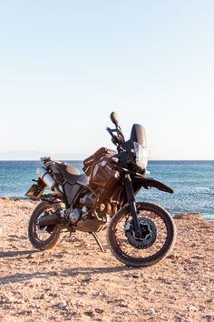 Yamaha xt660z tenere road trip Naxos Greece