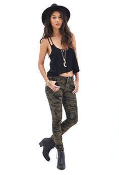 Camo Skinny Jeans | FOREVER 21 - 2000059438