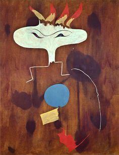 "Miro 1925  Oil on canvas  146 x 114 cm / 57 1⁄2 x 44 9⁄10"""