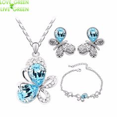 Cheap jewelry swivel, Buy Quality necklace pyramid directly from China jewelry making tool set Suppliers: hotsales butterfly locket  fashion 18KGP Austrian Crystal Butterfly Pendant necklace earrings bracelet Jewelry Sets 4090