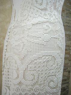 Exclusive ivory lace wedding dress bridal dress por LecrochetArt