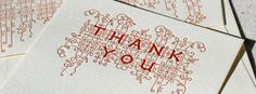 Letter press thank you's!