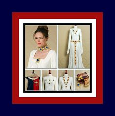 HISTORICAL ROYALTY JEWELRY- Craft Sewing Pattern- Choker- Bracelet -Stunning Necklaces- Brooch- Belt -Collar of Office- Uncut-One Size-Rare by FarfallaDesignStudio on Etsy