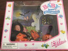 Zapf Baby BORN MINI WORLD BABY DOLL, Halloween Set Rare Htf 1 in  | eBay!