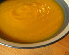 Curried Carrot Soup with Truffle Oil