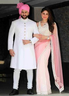 29 Simply Stunning Bandhgala Outfit Styles That Will Make You Look Fantabulous is part of Sherwani Bandhgala is been embraced by everyone from Narendra Modi to Jeff Bezos And it's even been sexed - Wedding Dresses Men Indian, Wedding Dress Men, Wedding Suits, Wedding Blog, Wedding Reception, Sherwani Groom, Wedding Sherwani, Mens Sherwani, Soha Ali Khan Wedding