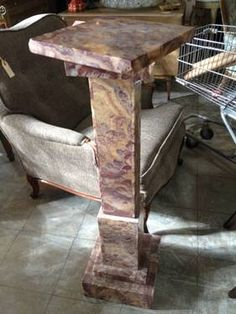 Marble Pedestal with Swivel Top  						   						$325
