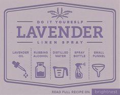 BrightNest | Treat Yourself! Make Lavender Linen Spray