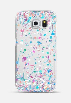 Girly Confetti Explosion Transparent Galaxy S6 Edge Case by Organic Saturation | Casetify
