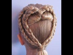Детская прическа Сердце из косичек. Прически на длинные волосыhttps://www.youtube.com/watch?v=lXwCj27zitg
