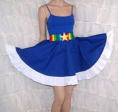 Rainbow Brite Summer Dress Cosplay Costume Adult by mtcoffinz, $80.00